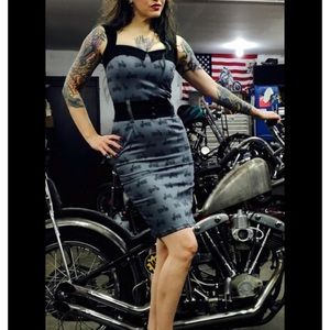 Switchblade Stiletto Motorcycle Wiggle Dress